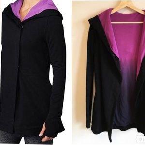Lululemon Awareness Wrap Jacket Black Purple Sz 10